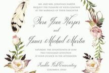 On Paper Press Invitations / Our own exclusive designs: Wedding invitations created by On Paper (614) 424-6617