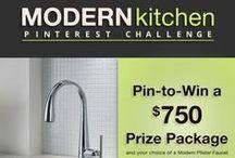 Space Saving Modern Kitchen / #PfisterModernKitchen Pinterest Challenge