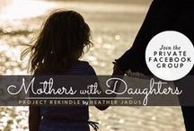 Mothers With Daughters - Bonding With Beauty / I help Mom's make safe product choices for themselves and their daughters. Be Informed. Be Safe. Be Healthy. Mission To educate and empower women on how to get safer personal products into their home and to offer a program for mothers and daughter to bond by learning this important information together..