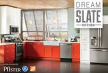 Dream Slate Kitchen Sweepstakes / Enter Dream Slate Kitchen for the chance to win a variety of enviable Slate prizes, including: a Pfister faucet and GE Slate appliances such as a french door refrigerator, free-standing range, built-in dishwasher and more. Plus, all of these amazing prizes will be delivered and installed by the experts at Home Depot. Enter to win your own Dream Slate Kitchen today!