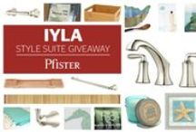 Iyla Style Suite Giveaway / This Style Suite prize package highlights the tranquil elegance of Iyla's design. Featuring decor to compliment Iyla's dynamic fluidity and elements found at a tropical island retreat, the Iyla Style Suite creates a classic spa oasis.   This giveaway has ended but please visit our Pfister Pinterest page for more amazing sweepstakes and contests!