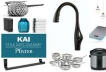 Pfister's Kai Style Suite Giveaway! / This Style Suite prize package is inspired by Kai's rich Matte Black finish and our favorite sleek city kitchens. Kai's signature silhouette is a unique and innovative design.    The Kai Style Suite is closed but please check our other boards for monthly giveaways!
