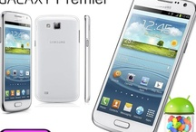 Samsung Galaxy Premier White / The Samsung Galaxy Premier sits between the S3 and the S3 Mini in the Samsung Galaxy Range and is offered in this Marble White colour scheme. / by Phones LTD - Compare Cheap Mobile Phone Deals