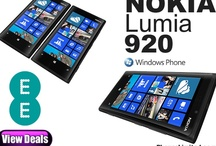 Nokia Lumia 920 deals / Best contract deals for the Nokia Lumia 920 with offers also on Pay As You Go and cheapest SIM free prices. / by Phones LTD - Compare Cheap Mobile Phone Deals