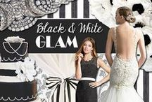 Black & White Glam / All of our favorite Modern Black & White wedding inspiration. / by Watters