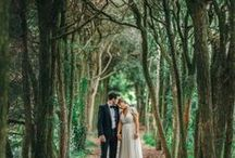 Whimsical Woodland Weddings / Calling all nature lovers! Do you swoon at the thought of a moss-draped table and an alter of intertwined flowering vines? Do you long to exchange vows beneath the canopy of a lush forest? We do too. Browse and be inspired!