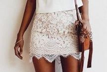 FASHION / White, lace, gold, and glitter are the main themes here