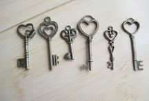 keys / I have an obsession with keys. Not as big as my obsession with pigs, but I've always felt old keys are incredibly powerful.