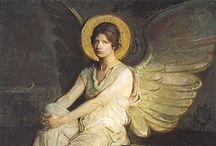 """I Believe In Angel's / """"I saw the angel in the marble and carved until I set him free."""" by~Michelangelo / by Patty"""