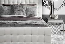 HOME} Stunning Silver Bedroom / by xoxoAudreyJean