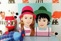 Nos toiles personnalisées / Nous imaginons et nous créons vos portraits personnalisés. Impression sur toile ou poster.  Creations made by-hand in our sunny workshop. Check it out!