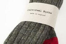 Socks & Scarves by Universal Works / Made in England. / by SUN/SET/STAR