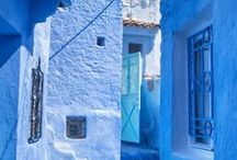 Travel destination / Interesting color harmony in places