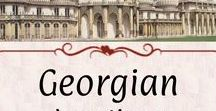 Georgian: Locations / Buildings, public places, tourist towns, London districts, shopping, and so on notable during the Regency and Georgian Eras.