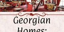 Georgian Homes: Other Rooms / Parlors, entryways, staircases, stables, and other random interior rooms. Examples have a Georgian aesthetic and *mostly* period-correct fixtures.