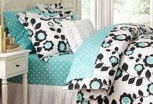 Lauriane's / Lauriane's Bedroom (Tween) Wants turquoise, black and white. It all started with a bedspread.