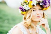 Flower Crown Inspiration / Inspiration for Flower Crowns, Floral Crowns, and Floral Head Pieces