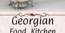 Georgian: Kitchen, Dining, Food / Food, recipes, tableware, serving dishes, cooking objects, and so on.