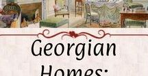 Georgian Homes: Design Plates / Drawings of furnishings and interior designs.