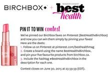 BestHealthxBirchbox / We've joined forces with Birchbox, the beauty ecommerce company! Here, we've pinned our Birchbox faves and now you can win them simply by pinning your faves!