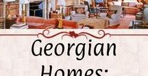 Georgian Homes: Library & Study / Libraries and Studies. Examples have a Georgian aesthetic and *mostly* period-correct fixtures.