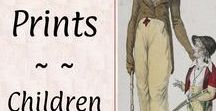 #Prints: Children & Family♕ / Regency drawings and fashion plates from style magazines of the period.