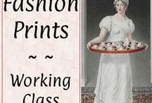 #Prints: Working Class♕ / Regency drawings and fashion plates from style magazines of the period.