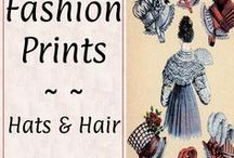 #Prints: Hats & Hair♕ / Regency drawings and fashion plates from style magazines of the period.