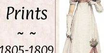 #Prints: Ladies 1805-1809♕ / Regency drawings and fashion plates from style magazines of the period. Includes Costume Parisien prints dated An 13, 14, 15 and 16.