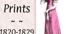 #Prints: Ladies 1820-1829♕ / Regency drawings and fashion plates from style magazines of the period.