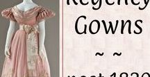 *Regency Gowns post-1820♡ / Extant examples of Regency era gowns dated after 1820.