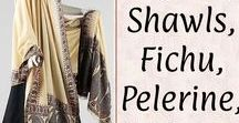 *Shawl, Fichu, Pelerine, Chemisette♡ / Shawls, fichus, tippets, pelerines, and chemisettes for women from the general Georgian to late-Regency Eras.