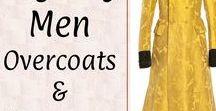+Regency Men: Overcoat & Banyans / Regency and Georgian Era garments for men: overcoats, frock coats, banyans (robes). Late 1700s to 1830s.