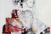 Collage/mixmedia / www.rieskunstgalleri.dk