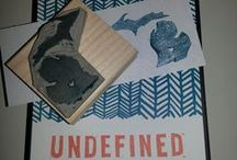 Cards - Undefined Carving / Great ideas for carving my own stamps / by Write Me Bak