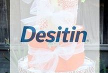 Diaper cakes / All you need to know to build beautiful diaper cakes for your next baby shower. Sponsored by Desitin.