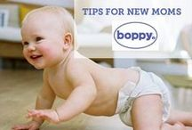 Tips for new moms / Sometimes the best advice comes from other moms. Sharing moms' best tips for pregnancy and life with a newborn.  Sponsored by Boppy