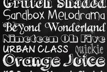 Fonts to remember / Beautiful fonts that I just HAVE to remember!!