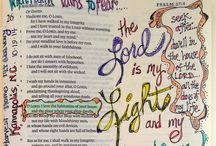 Bible Journaling / How to Bible journal, ideas, examples and supplies.