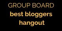 "*GROUP BOARD* Best Bloggers Hangout / Open to contributors! Please pin anything you like, and repin anything to your own boards that you find interesting  All topics welcome.   RULES: no more than 3 pins a day please.   To join, follow the board and leave a message on one of my pins (I'm Em Linthorpe!) saying ""let me in!"""
