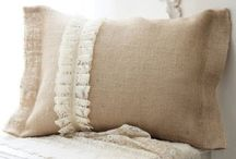 beautiful burlap / by Laurie @ Gallamore West