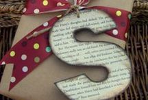 gift wrap ideas  / by Laurie @ Gallamore West