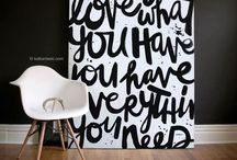 Home is where the heart is / Interior design ideas.