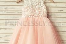 Wedding ~ Little girls dresses / Inspiration for little bridesmaids and flower girls dresses