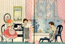 vintage childrens book illustrations
