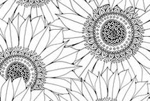 Mindful Coloring / Coloring can be a therapeutic way for childhood sexual abuse to be able to ground themselves in the present moment during triggering moments.