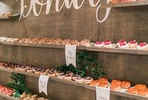 Wedding Cake Alternatives / Macaroons, donuts, delicious desserts, cheese cakes and more! Tasty alternative ideas to the wedding cake...