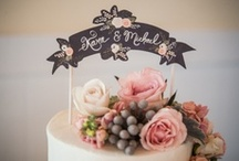Cake Toppers / Chic, cute and crafty wedding cake topper ideas...