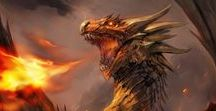 Dragons and other mythical creatures / A bestiary of the best fantasy creatures, particularly dragons! Great fantasy art here!