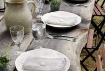 D.I.N.I.N.G. / What is more magical than a night gathered around the dining table with friends & family. Here is a collection of some of my favorite farmhouse tables, benches, chairs, oh my!